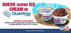 *************ISOPRO ICE CREAM*************  Compra Online Próximamente a través de usafitness.es  El nuevo helado de Quamtrax Nutrition disponible en cuatro sabores y fabricado a partir del mejor aislado de proteína de suero con 20% de proteína ISO WHEY y menos de un 1% de grasa. Este producto solo se sirve en la Comunidad de Madrid y esta disponible en todas las tiendas USA Fitness.  (Próximamente estará disponible para toda España)  http://usafitness.es/es/content/28-isopro-ice-cream-