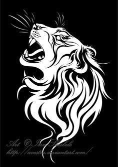 Tiger Profile Tribal by Avestra on deviantART