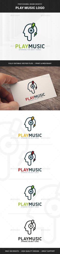 Play Music Logo Template — Transparent PNG #beats #deejay • Available here → https://graphicriver.net/item/play-music-logo-template/15772970?ref=pxcr