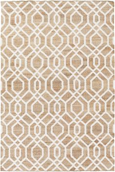 Surya Seaport SET3012 Brown/White Natural Fiber and Texture Area Rug