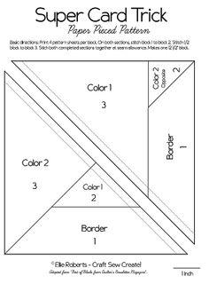 Super Card Trick Block Pattern - PPP