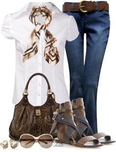 A fashion look from April 2013 featuring white blouse, wide-leg jeans and black flats. Browse and shop related looks. Casual Outfits, Cute Outfits, Fashion Outfits, Womens Fashion, Fashion Beauty, Fashion Looks, Office Fashion, Mode Style, Polyvore Outfits