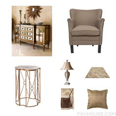 Interior Inspiration With Sideboard Safavieh Aidan Gray Accent Table And Uttermost Lamp From January 2017 #home #decor