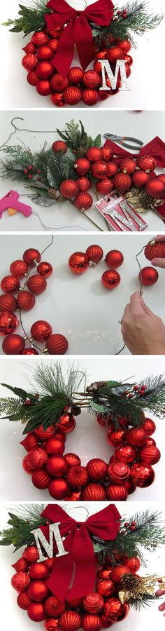 Last Minute DIY Christmas Decorations on a Budget – Picture Frame Wreaths : Mono… – The Best DIY Outdoor Christmas Decor Small Christmas Trees, Noel Christmas, Winter Christmas, Christmas Wreaths, Christmas Ornaments, Simple Christmas, Christmas Vacation, Christmas Christmas, Diy Christmas Decorations