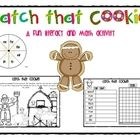 FREE!  Gingerbread Catch that Cookie Literacy and Math Activity - This is a fun center activity that incorporates both literacy and math.  Kids spin the word spinner, read the word and then use magnifying glasses ...