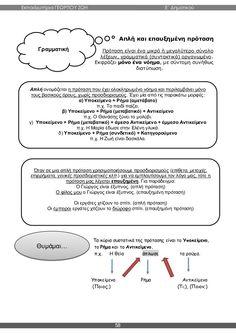 γλώσσα ε΄ δημοτικού α΄τεύχος Grammar, Education, School, Schools, Teaching, Onderwijs, Learning