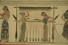4th Grade: look at this egyptian illustration of ww loom