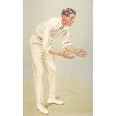 Vanity Fair 1907 Mr KL Hutchings (cricketer) Canvas Art - Leslie M Ward (18 x 24)