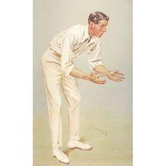 Vanity Fair 1907 Mr KL Hutchings (cricketer) Canvas Art - Leslie M Ward (18 x 24)