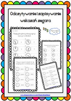 zegar Notebook, Bullet Journal, Teacher, Maths, Montessori, Diy, Free, Professor, Bricolage