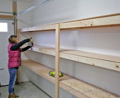 Ana White & Build a Easy and Fast DIY Garage or Basement Shelving for Tote Storage & Free and Easy DIY Project and Furniture Plans Source by anawhitediy The post BEST DIY Garage Shelves (Attached to Walls) appeared first on Flower Gardens. Basement Shelving, Diy Garage Shelves, Basement Ideas, Garage Cabinets, Building Shelves In Garage, Cheap Shelves, Wall Shelves, Basement Layout, Rustic Basement