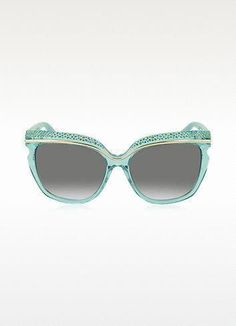 e47625ec1e0f JIMMY CHOO Sophia/S Crystal And Aqua Green Acetate Women'S Sunglasses.  crystal and aqua green acetate wome