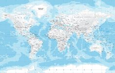 Map of the world labeled black and white labeled world map with highly detailed colored vector illustration of world map gumiabroncs Gallery