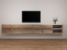 Floating Entertainment Unit with soft closure drawers or cupboards Made To Order Any Size and Configuration