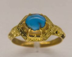 File:15th c ring turquoise Antique Jewelry University