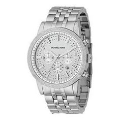 @Overstock - This stylish Michael Kors women's watch features a classic chronograph dial. This women's watch is crafted of stainless steel and features Japanese quartz movement.http://www.overstock.com/Jewelry-Watches/Michael-Kors-Womens-Stainless-Steel-Chronograph-Watch/5716191/product.html?CID=214117 $186.70