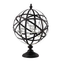 Bougeoir en métal noir H 60 cm COPERNIC | Maisons du Monde