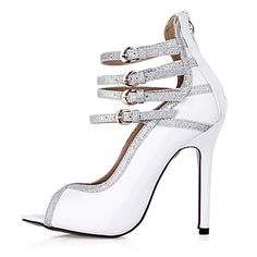 Women's+Sandals+Summer+Comfort+PU+Wedding+Party+&+Evening+Dress+Stiletto+Heel+White+–+USD+$+50.34