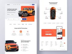 Ui Website, Website Layout, Web Layout, Website Ideas, Landing Page Inspiration, Website Design Inspiration, App Ui Design, Mobile App Design, Rental Websites