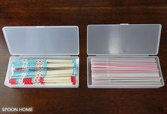 割り箸とストローの収納方法のブログ画像