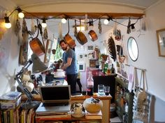 Your Home is Lovely: interiors on a budget: Real homes: a central London houseboat, frugally styled