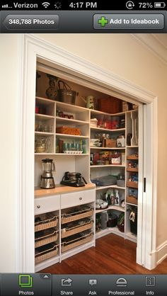 Butler's Pantry closet with pocket doors - YES!!