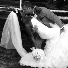 Gorgeous interracial couple wedding photography in black and white #love #wmbw #bwwm ♥♥♥♥♥