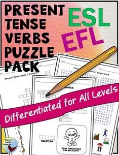 English Language Learners need plenty of practice in using English Verbs…