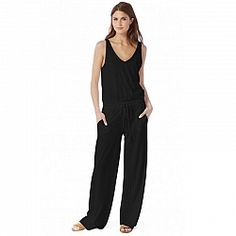 Michael Stars Double V-Neck Jumpsuit