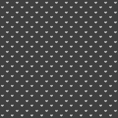 FREE printable black-and-white gift wrapping paper with tiny white doodle **** hearts ****