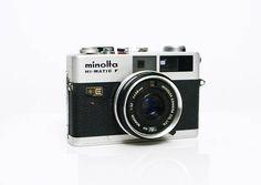 vintage Minolta Hi-Matic F rangefinder 35mm film camera