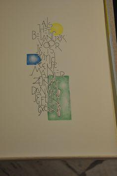Creatief bezig zijn met letters ... en verslaafd aan stempelen welk resultaat heeft dit????