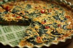 U nás na kopečku: Špenátový quiche Quiche, Czech Recipes, Pizza, Baking, Breakfast, Bread Making, Morning Coffee, Patisserie, Backen