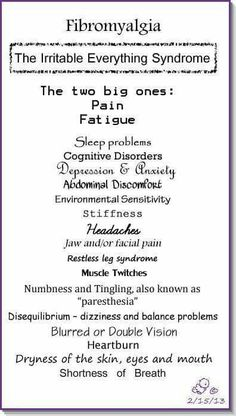 Fibromyalgia: the irritable everything syndrome