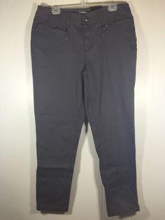 Lane Bryant Women's Plus Size 18 Slim Skinny Green Cotton Denim Jeans Pants New #LaneBryant #CasualPants