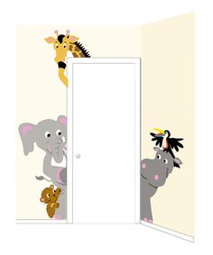 Menagerie of Doorhuggers Paint-By-Number Wall Mural Kit by Elephants on the Wall on #zulily today!