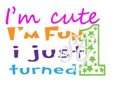 First (1st) Birthday with Stars for Silhouette or other craft cutters (.svg/ .dxf/ pdf) - pinned by pin4etsy.com