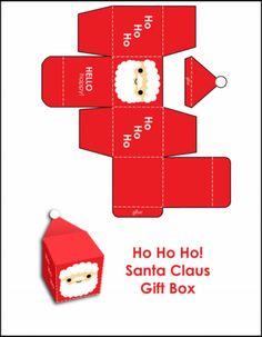 귀여운 , 크리스마스 상자 접기 도안사이즈 확대해서 출력한뒤 안에다가캔디나 초콜릿 넣어서 아이들 선물해줘