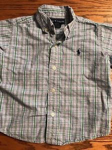 Polo, Ralph Lauren Toddler Boys Size 24 Months Multi Plaid Short Slv Shirt  | eBay
