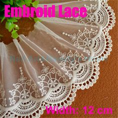 2 Yards Double layer embroidery Stereo flowers Lace Sewing Clothing accessories