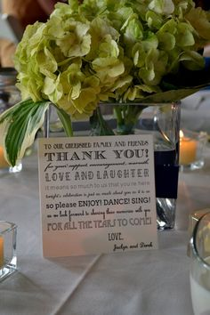 Thank you note for your guests place-setting.#kathleenburlewcreative