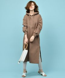 COLLAGE GALLARDAGALANTE(コラージュ ガリャルダガランテ)の「裏毛パーカーロングワンピース(ワンピース)」 - WEAR Long Parka, Duster Coat, One Piece, My Style, How To Wear, Jackets, Dresses, Fashion, Down Jackets