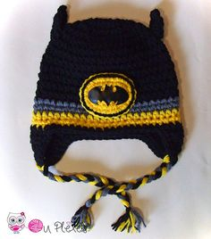Crochet Batman Hat Batman Beanie Boys Hat  Crochet Toddler