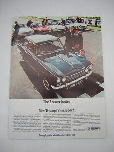 =-=Original Triumph Vitesse Mk2 Advert from 1969 - Classic Car Ad Advertisement