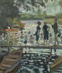 Inventing Impressionism, National Gallery. Claude Monet, Bathers at La Grenouillère, 1869