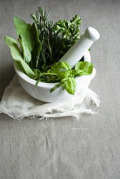 Herbs- use them to add flavor to food without extra fat, carbs or calories.  Yes!
