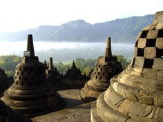 Borobudur Temple Compounds: http://whc.unesco.org/en/list/592#    Buddhist monument in Kedu Valley, Central Java, Indonesia.