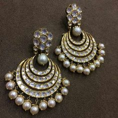 New jewerly indian kundan uncut diamond jewellery designs Ideas Diamond Jewelry, Jewelery, Silver Jewelry, Diamond Necklaces, Gold Necklaces, Pearl Jewelry, Diamond Earrings, Indian Wedding Jewelry, Bridal Jewelry
