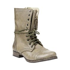 bec5a4bc04 These Steve Madden white lace-up combat boots would go great with just  about anything