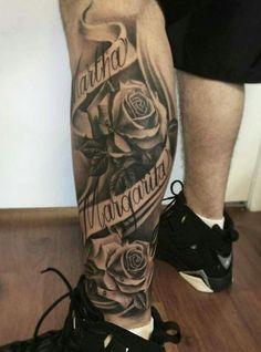 Music Tattoo Ideas For Men Sleeve Roses Ideas For 2019 Name Tattoos For Girls, Names Tattoos For Men, Cool Tattoos For Guys, Sleeve Tattoos For Women, Trendy Tattoos, Unique Tattoos, Leg Sleeve Tattoo, Forearm Tattoo Men, Foot Tattoos